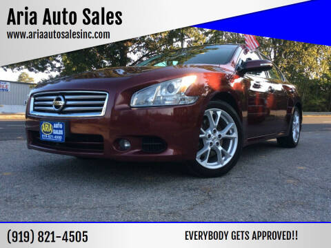 2012 Nissan Maxima for sale at ARIA  AUTO  SALES in Raleigh NC