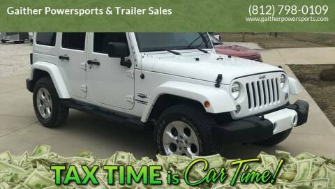 2014 Jeep Wrangler Unlimited for sale at Gaither Powersports & Trailer Sales in Linton IN