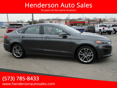 2019 Ford Fusion for sale at Henderson Auto Sales in Poplar Bluff MO