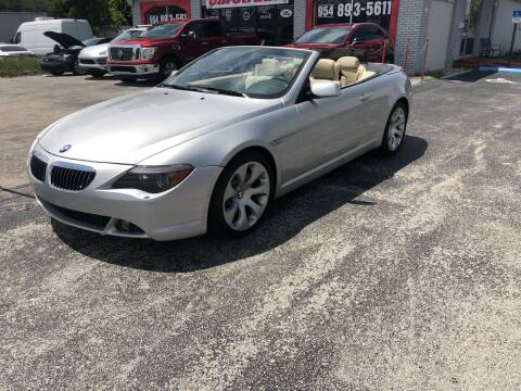 2005 BMW 6 Series for sale at CARSTRADA in Hollywood FL
