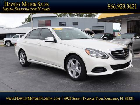2016 Mercedes-Benz E-Class for sale at Hawley Motor Sales in Sarasota FL