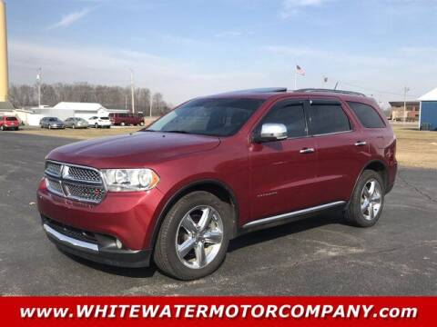 2013 Dodge Durango for sale at WHITEWATER MOTOR CO in Milan IN