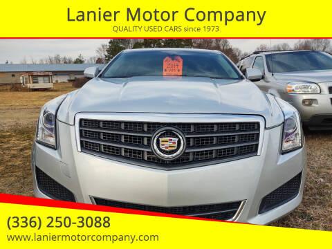2014 Cadillac ATS for sale at Lanier Motor Company in Lexington NC