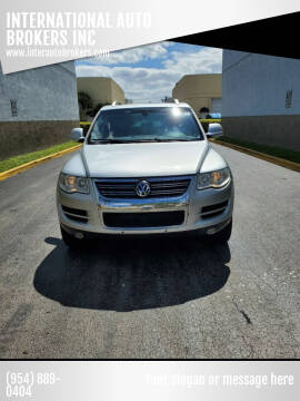 2010 Volkswagen Touareg for sale at INTERNATIONAL AUTO BROKERS INC in Hollywood FL