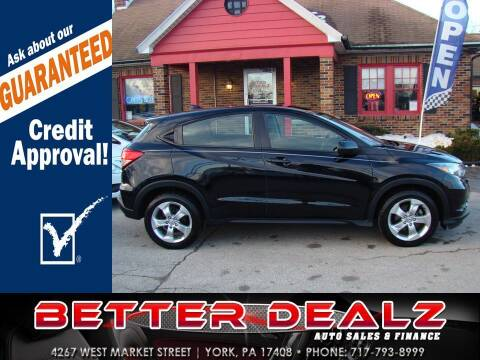 2016 Honda HR-V for sale at Better Dealz Auto Sales & Finance in York PA