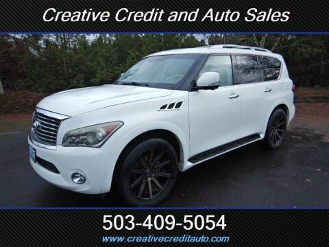 2011 Infiniti QX56 for sale at Creative Credit & Auto Sales in Salem OR