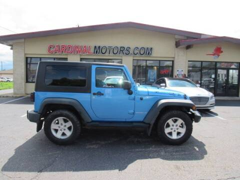 2010 Jeep Wrangler for sale at Cardinal Motors in Fairfield OH