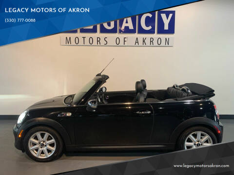 2012 MINI Cooper Convertible for sale at LEGACY MOTORS OF AKRON in Akron OH