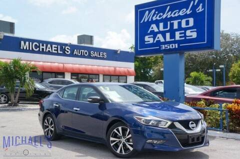 2017 Nissan Maxima for sale at Michael's Auto Sales Corp in Hollywood FL