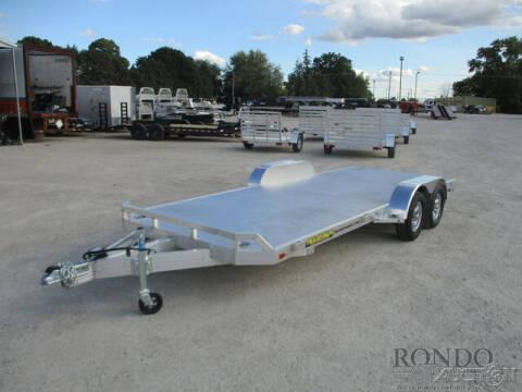 2022 Aluma Car Hauler 8218TA-EL-R-RTD for sale at Rondo Truck & Trailer in Sycamore IL