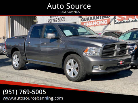 2011 RAM Ram Pickup 1500 for sale at Auto Source in Banning CA