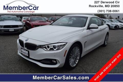 2015 BMW 4 Series for sale at MemberCar in Rockville MD