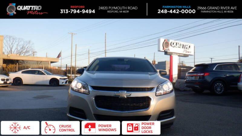 2014 Chevrolet Malibu for sale at Quattro Motors 2 in Farmington Hills MI