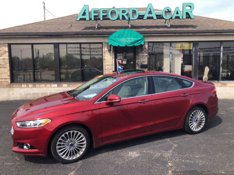 2016 Ford Fusion for sale at Afford-A-Car in Moraine OH