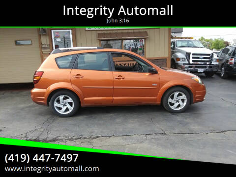 2004 Pontiac Vibe for sale at Integrity Automall in Tiffin OH