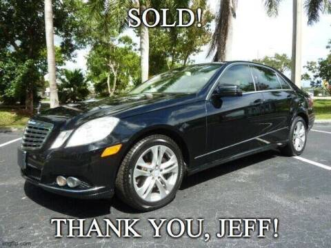 2010 Mercedes-Benz E-Class for sale at VehicleVille in Fort Lauderdale FL