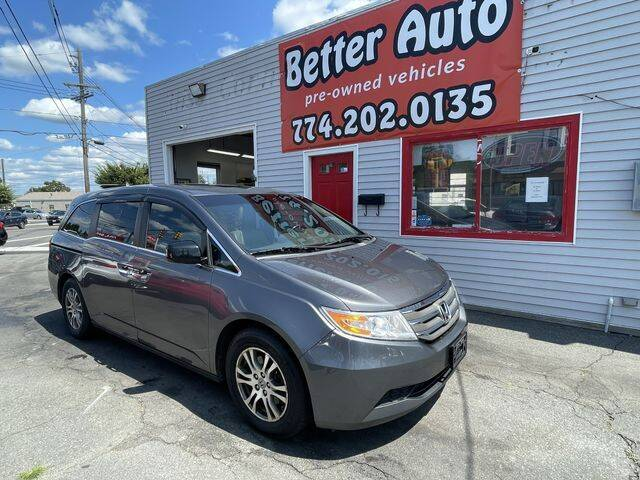 2012 Honda Odyssey for sale at Better Auto in Dartmouth MA
