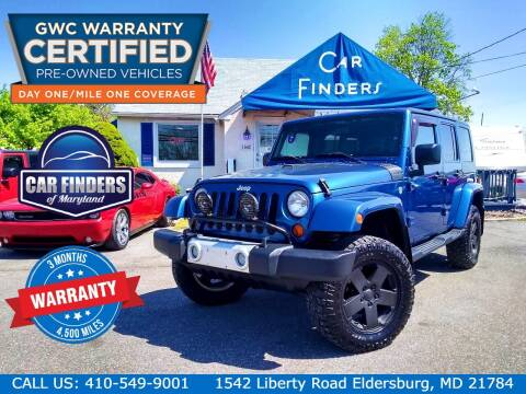 2010 Jeep Wrangler Unlimited for sale at CAR FINDERS OF MARYLAND LLC - Certified Cars in Eldersburg MD