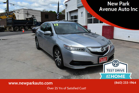 2017 Acura TLX for sale at New Park Avenue Auto Inc in Hartford CT