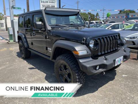 2020 Jeep Wrangler Unlimited for sale at Salem Auto Market in Salem OR