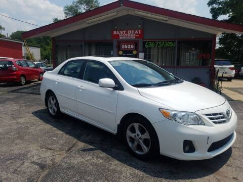 2013 Toyota Corolla for sale at Best Deal Motors in Saint Charles MO