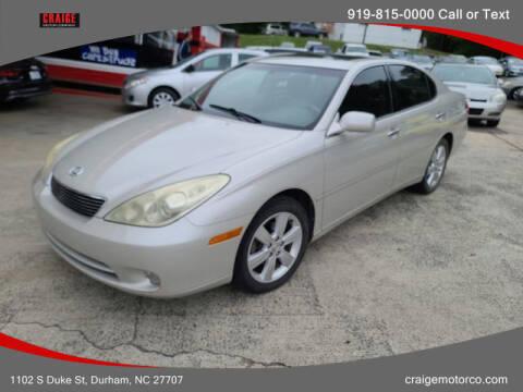 2005 Lexus ES 330 for sale at CRAIGE MOTOR CO in Durham NC