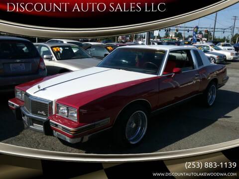 1984 Pontiac Grand Prix for sale at DISCOUNT AUTO SALES LLC in Lakewood WA