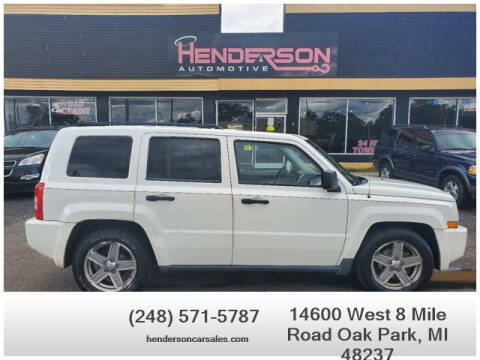 2008 Jeep Patriot for sale at Henderson Automotive, LLC in Oak Park MI