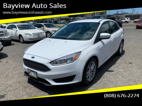 2018 Ford Focus for sale at Bayview Auto Sales in Waipahu HI