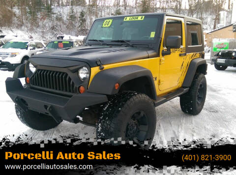 2008 Jeep Wrangler for sale at Porcelli Auto Sales in West Warwick RI