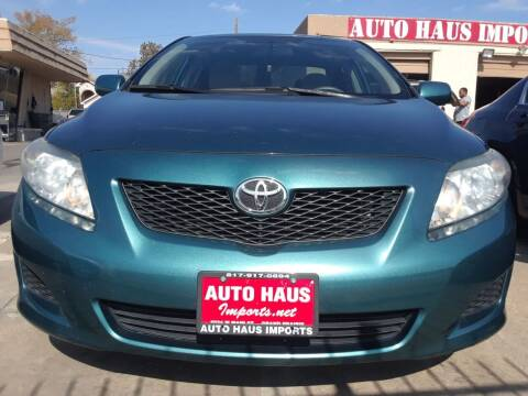 2009 Toyota Corolla for sale at Auto Haus Imports in Grand Prairie TX