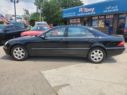 2004 Mercedes-Benz S-Class for sale at R Tony Auto Sales in Clinton Township MI