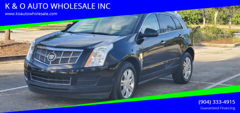 2010 Cadillac SRX for sale at K & O AUTO WHOLESALE INC in Jacksonville FL