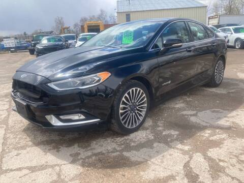 2017 Ford Fusion Hybrid for sale at SUNSET CURVE AUTO PARTS INC in Weyauwega WI