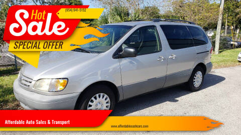 2001 Toyota Sienna for sale at Affordable Auto Sales & Transport in Pompano Beach FL