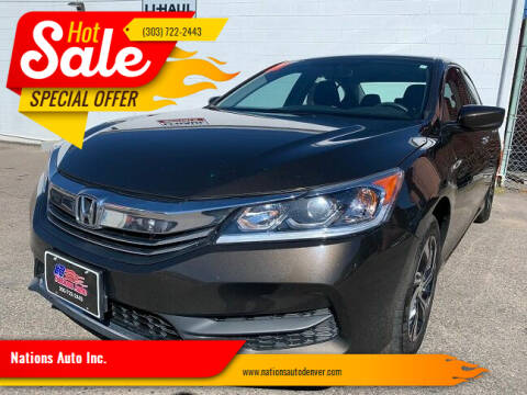 2017 Honda Accord for sale at Nations Auto Inc. in Denver CO