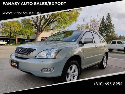 2005 Lexus RX 330 for sale at FANASY AUTO SALES/EXPORT in Yorba Linda CA