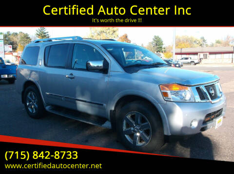 2010 Nissan Armada for sale at Certified Auto Center Inc in Wausau WI