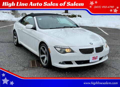 2008 BMW 6 Series for sale at High Line Auto Sales of Salem in Salem NH