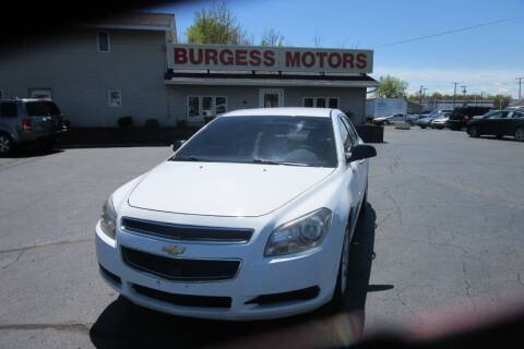 2012 Chevrolet Malibu for sale at Burgess Motors Inc in Michigan City IN