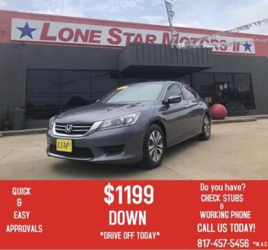 2014 Honda Accord for sale at LONE STAR MOTORS II in Fort Worth TX