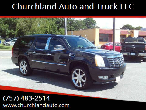 2010 Cadillac Escalade ESV for sale at Churchland Auto and Truck LLC in Portsmouth VA