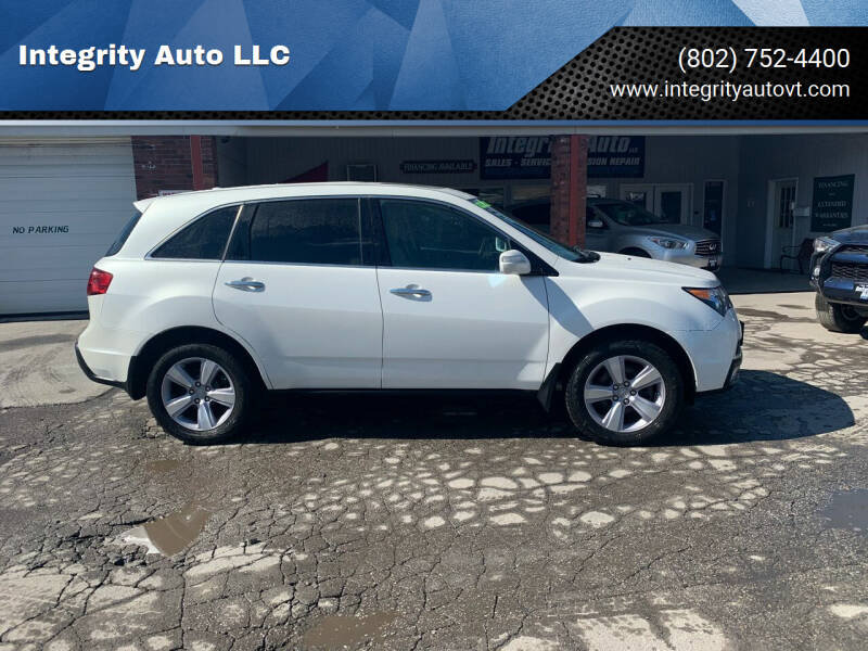 2013 Acura MDX for sale at Integrity Auto LLC - Integrity Auto 2.0 in St. Albans VT