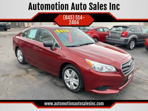 2015 Subaru Legacy for sale at Automotion Auto Sales Inc in Kingston NY