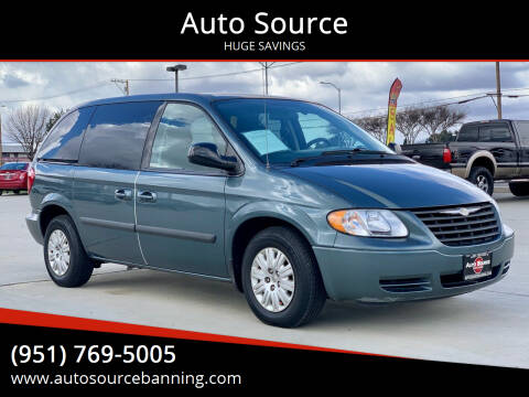 2007 Chrysler Town and Country for sale at Auto Source in Banning CA