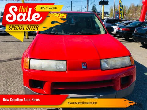 2004 Saturn Vue for sale at New Creation Auto Sales in Everett WA
