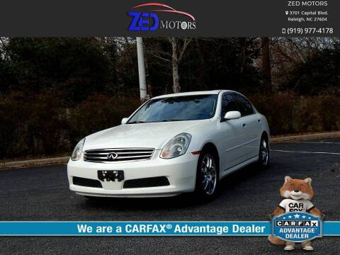 2005 Infiniti G35 for sale at Zed Motors in Raleigh NC