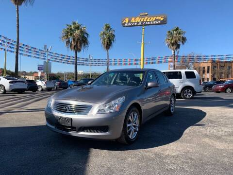 2008 Infiniti G35 for sale at A MOTORS SALES AND FINANCE in San Antonio TX