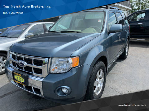 2010 Ford Escape for sale at Top Notch Auto Brokers, Inc. in Palatine IL