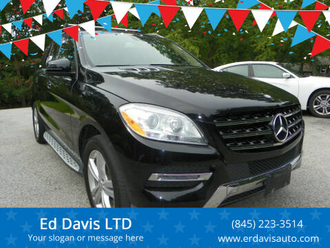 2013 Mercedes-Benz M-Class for sale at Ed Davis LTD in Poughquag NY
